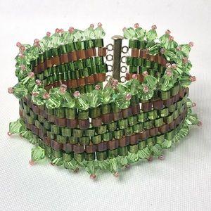 Vintage Wide Beaded Bracelet